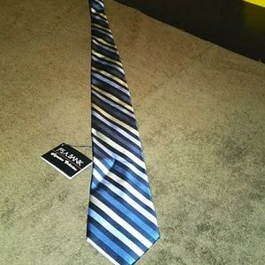Blue & silver stripe Jos a banks silk tie